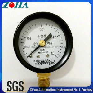"2""/50mm Bottom Connection Steel Case Brass Connector Manometer pictures & photos"