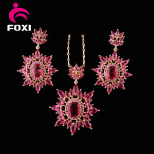 China CZ Cubic Zirconia Set Costum New Ruby Jewellery pictures & photos