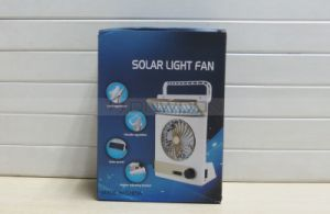3 in 1 Multi-Function Portable Mini Fan LED Table Lamp Flashlight Solar Fan for Home Camping pictures & photos