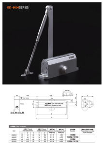 Od-6000 Series Door Closer pictures & photos