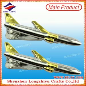 Mini Airplane Metal Dual Plating Tie Clips pictures & photos
