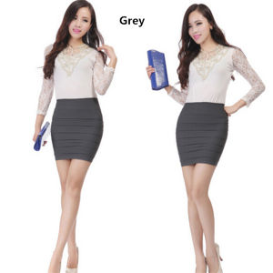 Women Candy Colors High-Waisted Slim Fitting Tight Pencil Skirt (50125) pictures & photos