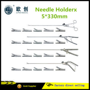 Reusable Laparoscopic Stainless Needle Holder Forceps pictures & photos