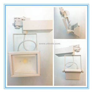 4 Wires CREE COB LED 30W Square LED Track Light pictures & photos