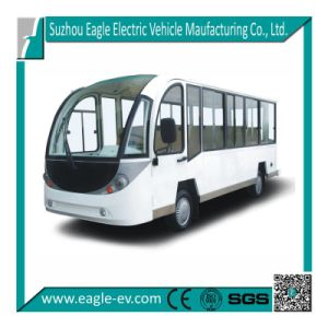 14 Seats Electric Shuttle Bus, with Cab, Optional Heater, Air Condition, with 72V 7.5kw Motor, pictures & photos