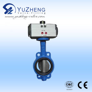 Stainless Steel CF8/CF8m Pneumatic Butterfly Valve pictures & photos