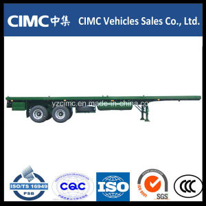 Cimc 40FT 2 Axles Flatbed Trailer with Bogie Suspension pictures & photos
