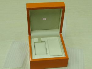Wooden Paper Watch Boxes with PU and Velvet Insert pictures & photos