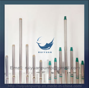 4′′ Cheap Sale Factory Price Brass Outlet Deep Well Submersible Water Pump (4SD8-08/1.1KW) pictures & photos