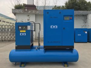 Industrial Air Cooled Electric Screw Air Compressor with Air Dryer pictures & photos