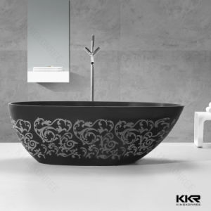 Matte Surface Solid Surface Soaking Freestanding Bathtub for Germany pictures & photos