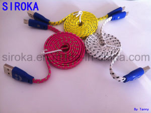 Colorful Braid Micro USB Charger Data Cable for Samsung pictures & photos