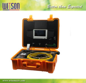 Witson Chimney Inspection Camera with Push Rod Wheel 30m Fiberglass Cable pictures & photos