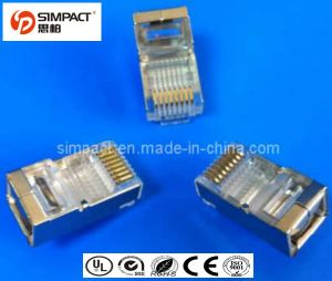 CE, RoHS Certificated S/FTP CAT6 RJ45 Connector pictures & photos