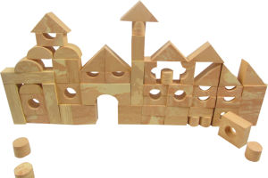 Wood Grain EVA Foam Building Blocks