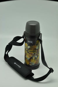 High Quality 304 Stainless Steel Vacuum Flask Double Wall Vacuum Flask Svf-800e Green pictures & photos