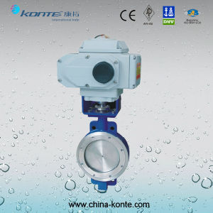 Electric Actuator Butterfly Valve Wafer Connection pictures & photos