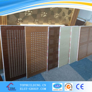 Sound Absorption Perforated Paper Faced /PVC Gypsum Ceiling Tile/Perforated Gypsum pictures & photos