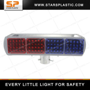 Red and Blue LED Solar Strobe Light for Traffic Safety pictures & photos