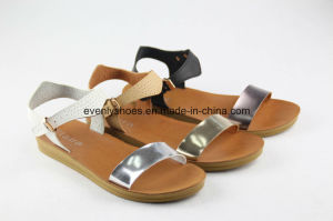 Open Toe Flat Lady Sandal for 2016 Summer pictures & photos