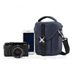 Stylish Polyester Camera Bag-Navy Blue pictures & photos