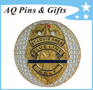 Metal Gold Golf Ball Marker in Soft Enamel of Golf Equipment (Golf-05) pictures & photos