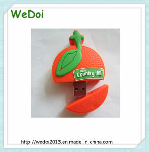 Customized Orange USB Stick with RoHS (WY-PV101) pictures & photos