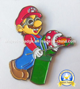 Soft Enamel Gold Plating Mario Pin pictures & photos