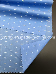Finished Fabric 100% Cotton Poplin Navy Blue Ground with White Figure pictures & photos