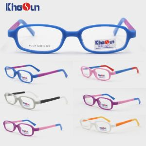 Kid′s 3 Tone Colors with Rubber Finish Optical Frames pictures & photos