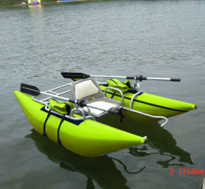PVC 1 Person Inflatable Pontoon Boat Fly Fishing pictures & photos