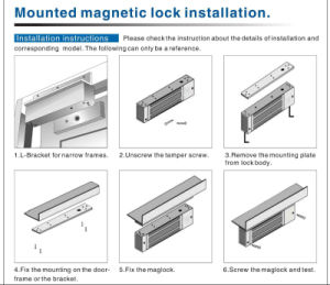 Electric Mortise /Drop Bolt Lock with Time Delay for Glass Door pictures & photos