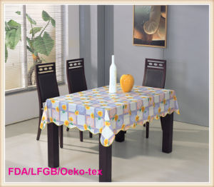 New Designs Printed PVC Tablecloths with Nonwoven on Roll pictures & photos