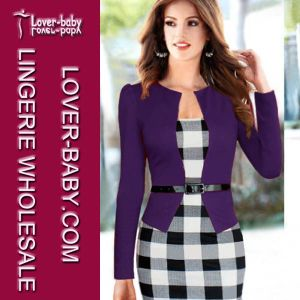 Autumn Bodycon Women Work Dress (L36017-3) pictures & photos