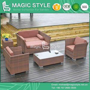 Simple Patio Sofa Set Rattan Wicker Sofa Set Modern Outdoor Sofa Set (Magic Style) pictures & photos