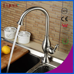 Fyeer Nickle Brush Single Handle Kitchen Sink Faucet pictures & photos