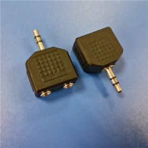 3.5mm Stereo Male to 2 Female a/V Connector (A-030) pictures & photos