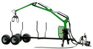 8ton Max Load 600kgs Lifting Capacity Crane Timber Trailer, Forest Trailer, Forest Trailer with Crane pictures & photos