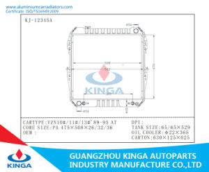 Auto Radiator for Toyota Vzn10#/11#/13#′ 89-95 at Aluminum Core with Plastic Tanks pictures & photos