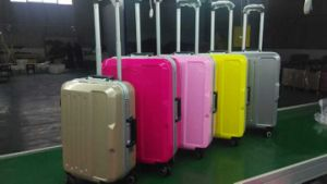 Strong ABS Trolley Luggage Bag with Alumium Frame Style pictures & photos