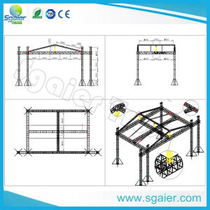Circular Truss Space Truss Aluminum Exhibition Truss for Cosmetic Company pictures & photos