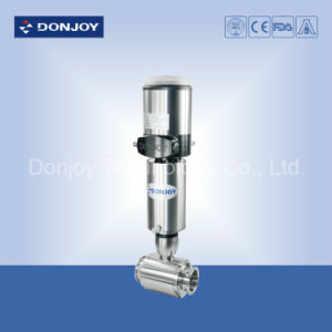 Ss 316L Dn50 Clamped Pneumatic Ball Valve with Automatic Positioner pictures & photos