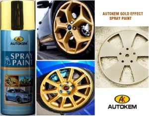 Metallic Spray Paint, Gold Finish, Beautifying Finish, Long Term Protection, Rust Proof pictures & photos