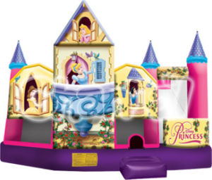 Inflatable Princess 5 in 1 Bouncer with Slide Basketball Climbing pictures & photos