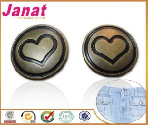 Anti-Brass Color Jeans Button for Coat