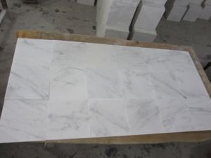 Honed Oriental White Marble Tile for Bathroom & Floor pictures & photos