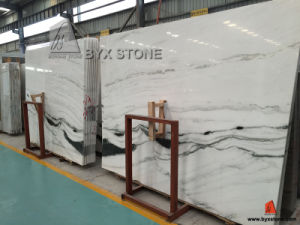 Open Book Panda Withe Marble Slab for Countertop and Tile with Black Veins pictures & photos