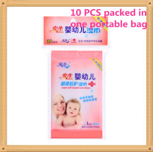 10 PCS Economic High Quality Super Soft Cotton Non-Woven Baby Wet Wipe pictures & photos