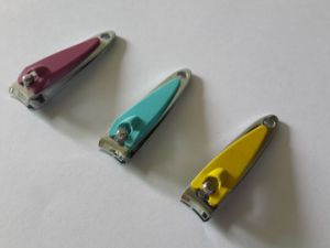 Carbon Steel Small Size Nail Clippers with Colorful Rubber Grip pictures & photos