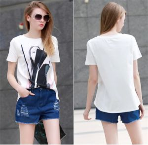 Hot Sale Street Loose Printing Pure Cotton Tee Shirt pictures & photos
